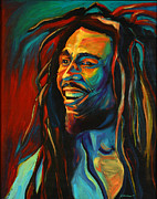 Singer  Paintings - Bob Marley by Mike Lawrence