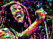 Bob Marley Print by Mike OBrien