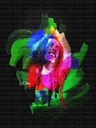 Cry Digital Art - Bob Marley by Mo T