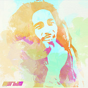 Music Posters Posters - Bob Marley Poster by Irina  March