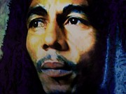 Soul Pastels Prints - Bob Marley One Love Print by Mandy Thomas