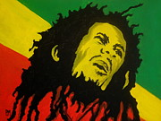 Bob Marley Painting Originals - Bob Marley by Pete Maier
