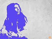Bob Marley Purple Print by Irina  March