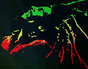 Screen Print Painting Prints - Bob Marley Skankin Print by Siobhan Bevans