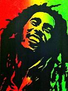 Bob Marley Smile Print by Siobhan Bevans