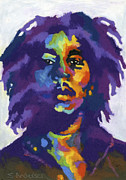 Rock Music Metal Prints - Bob Marley Metal Print by Stephen Anderson