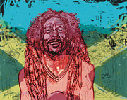 Bob Drawings - Bob Marley by Suzanne Gee