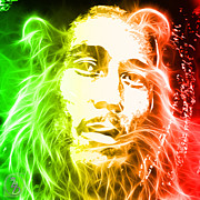 Bob Marley Abstract Prints - Bob Marley Print by The DigArtisT