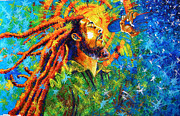 Jose Miguel Barrionuevo Metal Prints - Bob Marleys tribute Metal Print by Jose Miguel Barrionuevo
