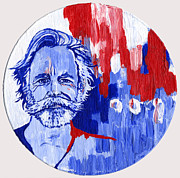 Vinyl Paintings - Bob Weir by Pat Butler