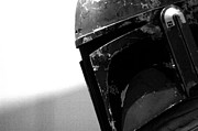 Jet Photo Prints - Boba Fett Helmet Print by Micah May