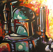Boba Fett Paintings - Boba Fett by Jean Alexander