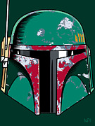 Greens Digital Art Framed Prints - Boba Fett Framed Print by IKONOGRAPHI Art and Design