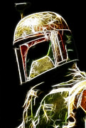 Star Framed Prints - Boba Fett Framed Print by Paul Ward