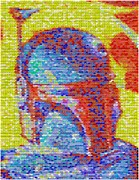 Candy Digital Art - Boba Fett Pez Mosaic by Paul Van Scott