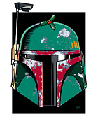 Helmet Digital Art - Boba Fett Seasons Greetings by IKONOGRAPHI Art and Design