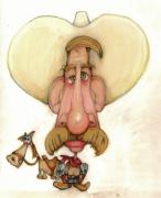 Humor Pastels - Bobblehead No 49 by Edward Ruth