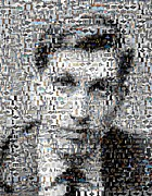 Chess Posters - Bobby Fischer Chess Mosaic Poster by Paul Van Scott