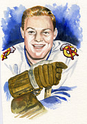 Hockey Painting Prints - Bobby Hull Print by Ken Meyer jr