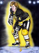 Fame Painting Framed Prints - Bobby Orr Framed Print by Dave Olsen