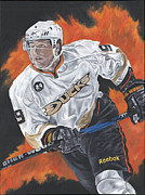 David Courson Painting Metal Prints - Bobby Ryan Metal Print by David Courson