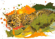 Science Fiction Pastels - Bobcat by Janice Lawrence