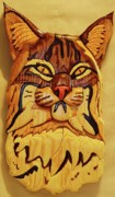 Cats Sculpture Posters - Bobcat Poster by Russell Ellingsworth