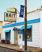 Farm Towns Prints - Bobs Bait Shop in Isleton California . The Master Baiter Print by Wingsdomain Art and Photography