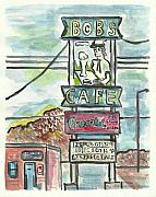 Dakota Painting Metal Prints - Bobs Cafe Metal Print by Matt Gaudian
