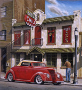 Automotive Paintings - Bobs Chili Parlor by Craig Shillam