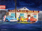 Couples Paintings - Boca Chica Bar by Linda Cabrera