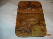 Lighthouse Pyrography - Boca Grande Lighthouse with Manatees by Doris Lindsey