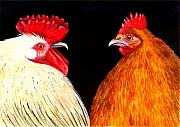Chickens Paintings - Bock Bock by Catherine G McElroy