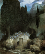 Cemetary Paintings - Bocklins Tomb by Ferdinand Keller