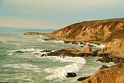 Ocean Digital Art - Bodega Bay coastline  one by Alberta Brown Buller