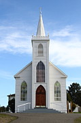 The Bird Photo Prints - Bodega Catholic Church . Bodega Bay . Town of Bodega . 7D12438 Print by Wingsdomain Art and Photography