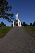 Roads Photos - Bodega Church by Garry Gay