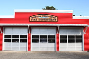Old Country Roads Prints - Bodega Volunteer Fire Department . Bodega Bay . Town of Bodega . California . 7D12461 Print by Wingsdomain Art and Photography