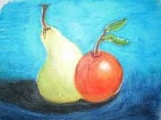 Food And Beverage Pastels Originals - Bodegon by Mayte Heredias