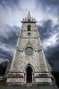 Religion Church Framed Prints - Bodelwyddan Church Framed Print by Meirion Matthias