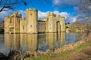 Chivalry Framed Prints - Bodiam Castle Framed Print by Donald Davis