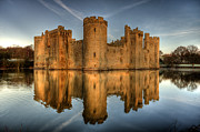 Sussex Framed Prints - Bodiam Castle Framed Print by Mark Leader
