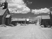 Historical Towns Prints - Bodie A Ghost Town Infrared  Print by Christine Till