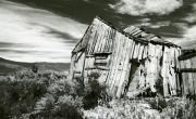 Scan Prints - Bodie Barn Print by Norman  Andrus