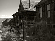 Old Cabins Prints - Bodie Cabins 3 Print by Philip Tolok