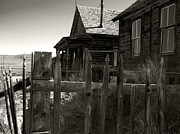 Gold Rush Prints - Bodie Cabins 4 Print by Philip Tolok