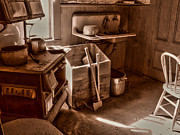 Bodie Art - Bodie California Ghost Town Kitchen by Scott McGuire