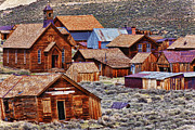 Wooden Structures Prints - Bodie Ghost Town California Print by Garry Gay