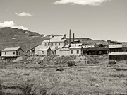 Old Cabins Prints - Bodie Ghost Town California Gold Mine Print by Philip Tolok