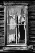 Curtains Posters - Bodie Ghost Town Poster by Sandra Bronstein